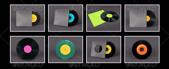 Vinyl Record Album Mock-Ups