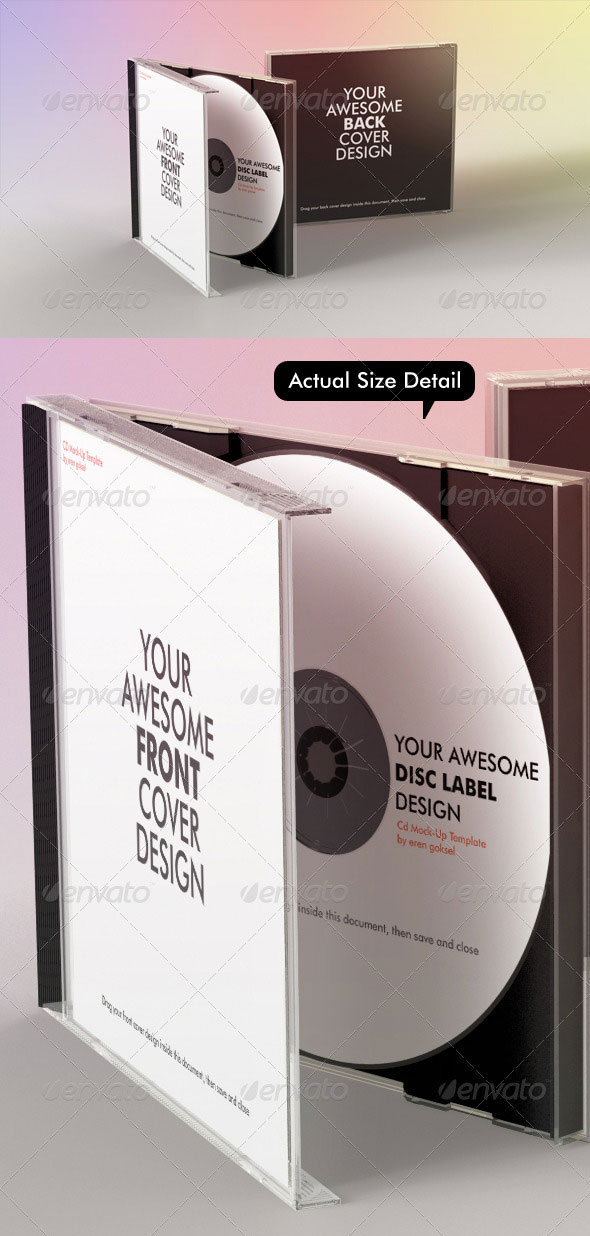 Realistic CD Mock-Up Template