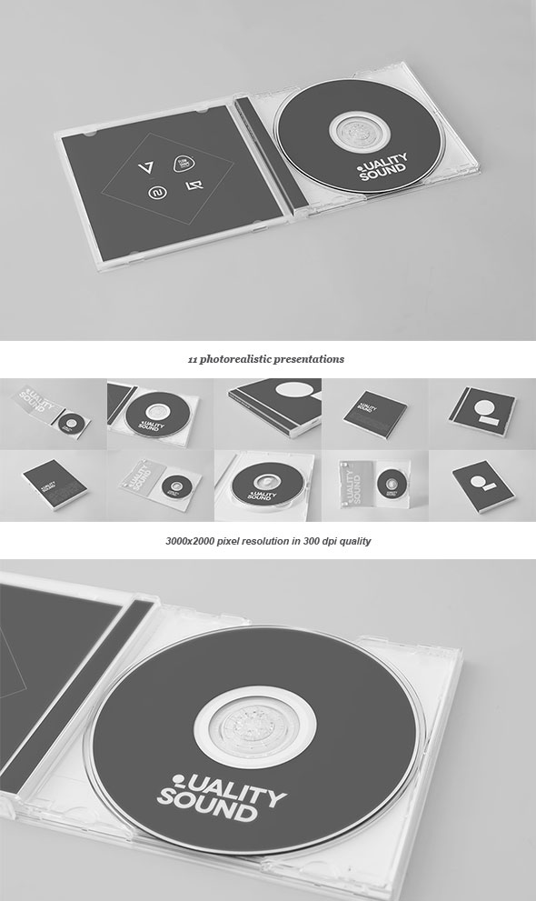 CD/DVD Album Mock-up