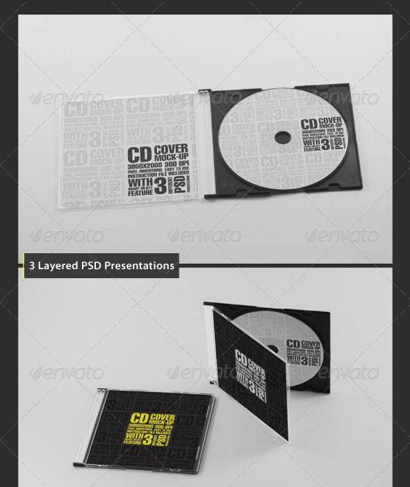 CD/DVD Case Mockup