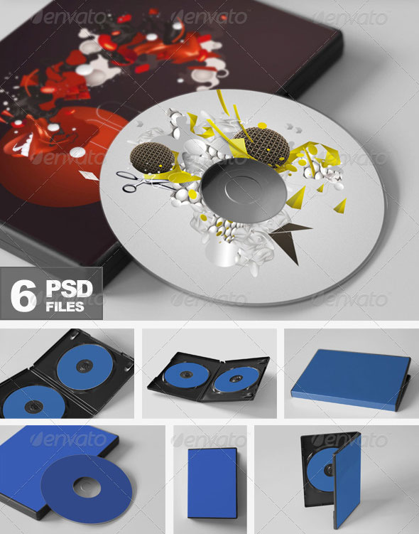 CD/DVD Disc & Cover Mockups