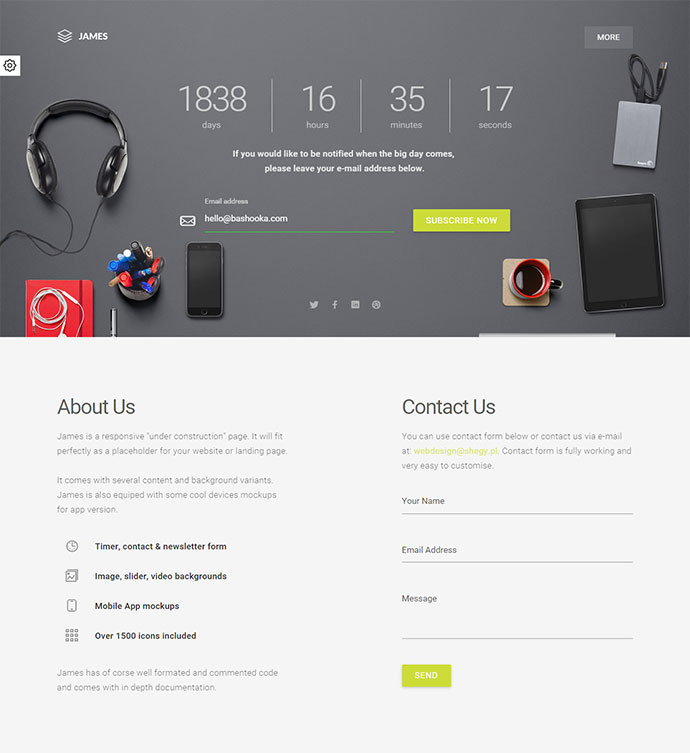 Material Design Coming Soon Template