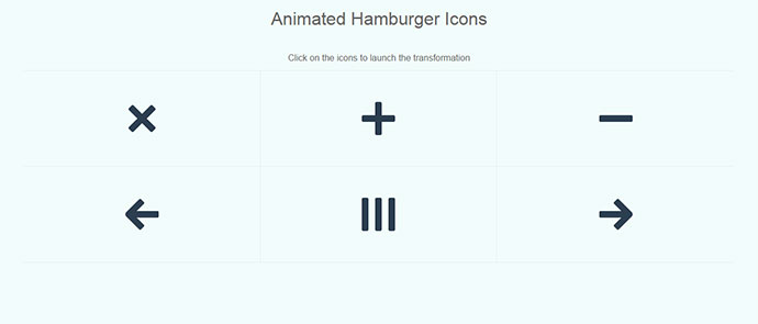 Touch-friendly Animated Hamburger Icons