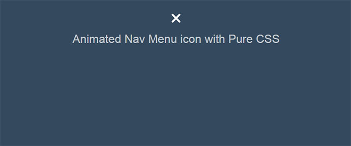 Animated Nav Menu icon with Pure CSS