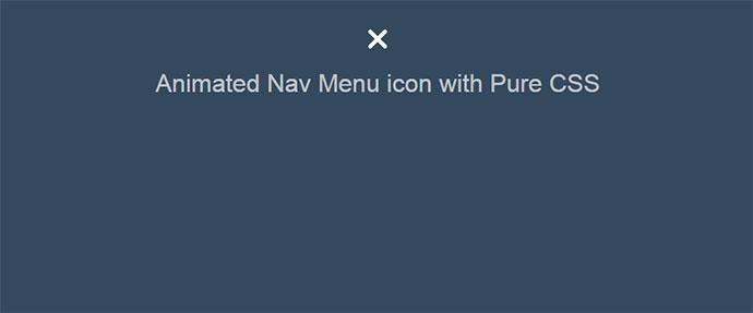 Animated Nav Menu icon with Pure CSS