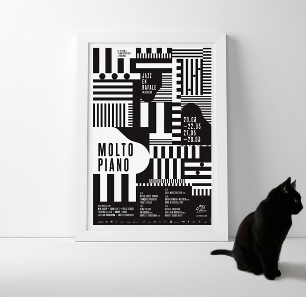 35 Amazing Geometric Poster Designs