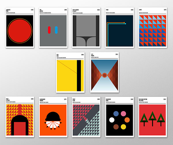 Geometric Movie Posters
