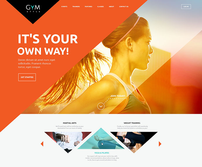 gym sport wordpress themes