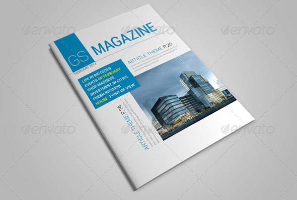 25 Pages Magazine Template Vol14