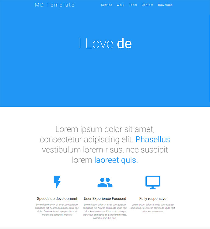 12 Awesome HTML Material Design Website Templates | Web & Graphic ...
