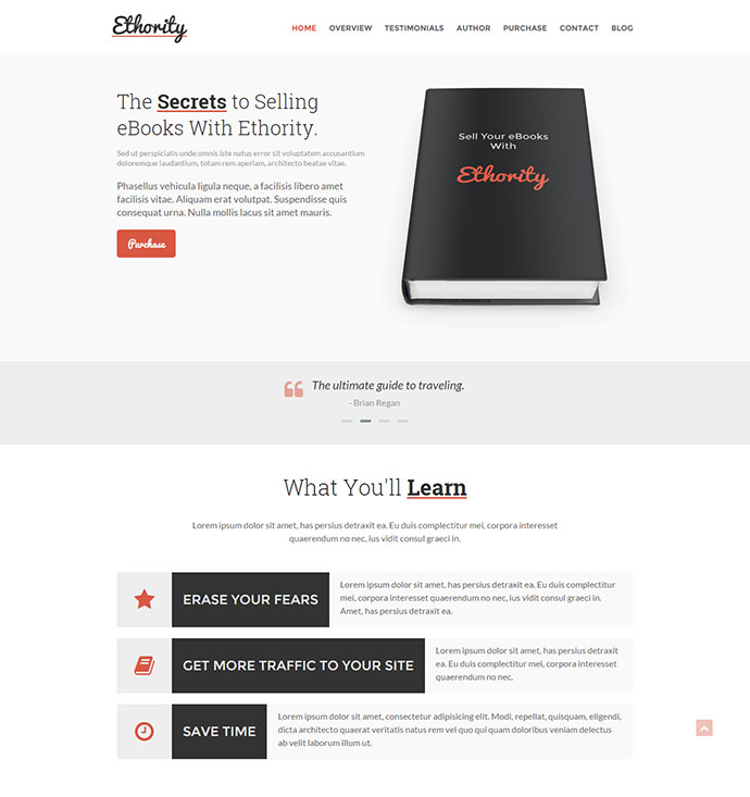 landing page perfect for selling your ebooks