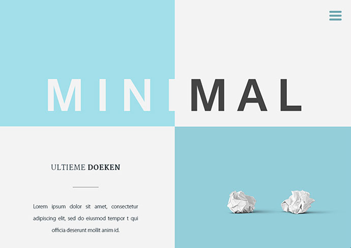 Minimal Website | Free PSD