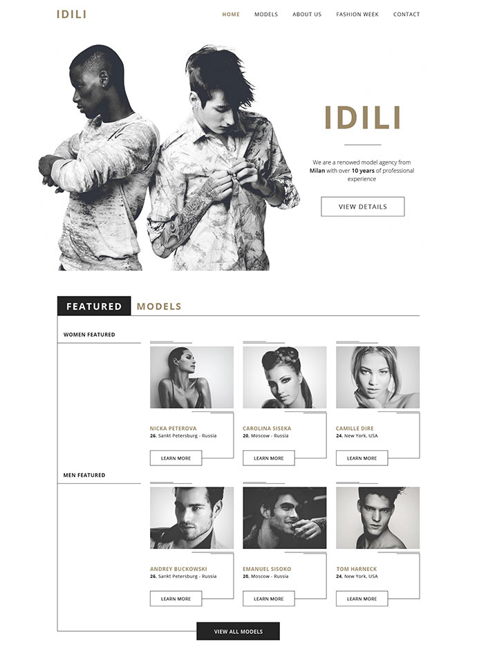 IDILI - Models agency [FREEBIE]