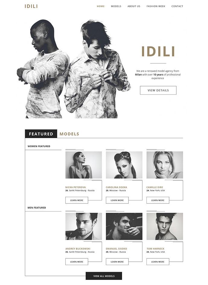 IDILI - Models agency [FREEBIE]
