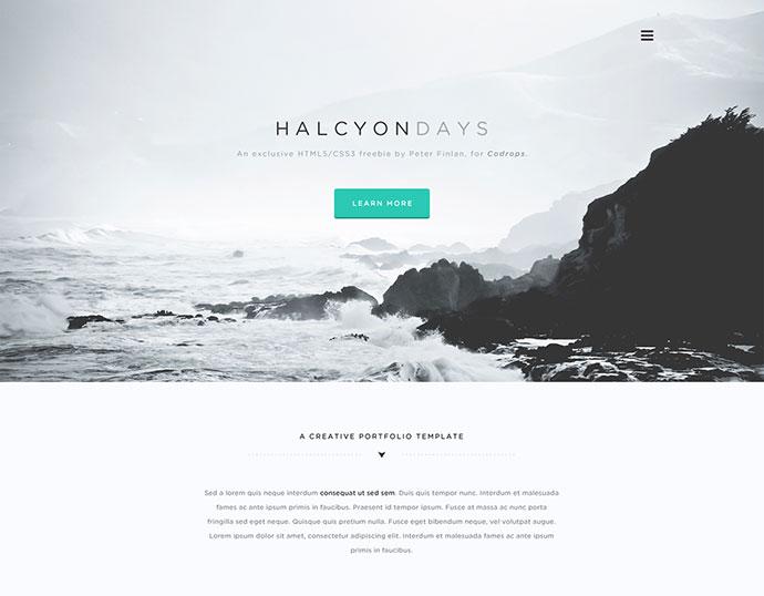 Minimalist Website Templates. 54 beautiful html5 portfolio website ...