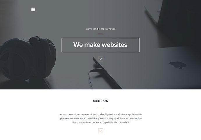 Arcadia - Free PSD Landing Page