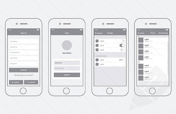 iphone app wireframe template.html