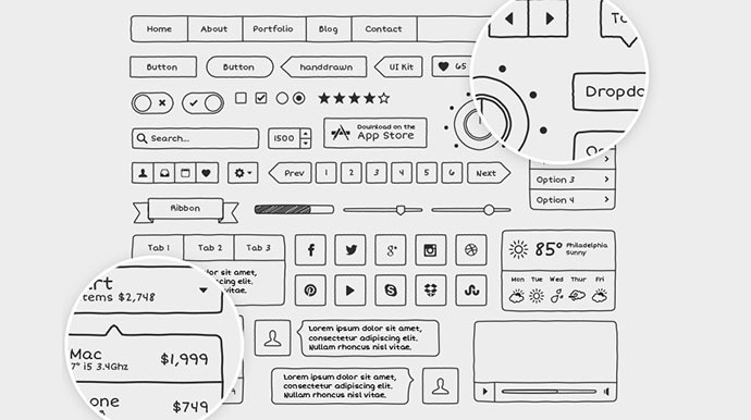 20 templates for creating high fidelity wireframes web graphic