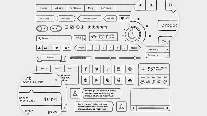 Hand Drawn Vector UI Kit