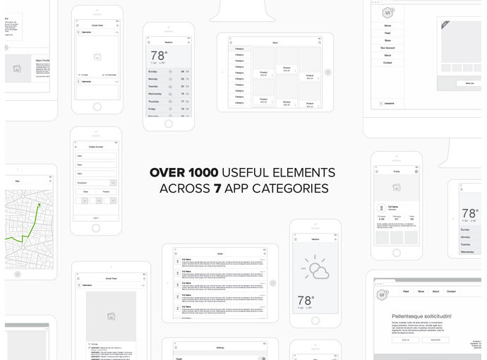 20 Templates For Creating High-Fidelity Wireframes | Web & Graphic ...