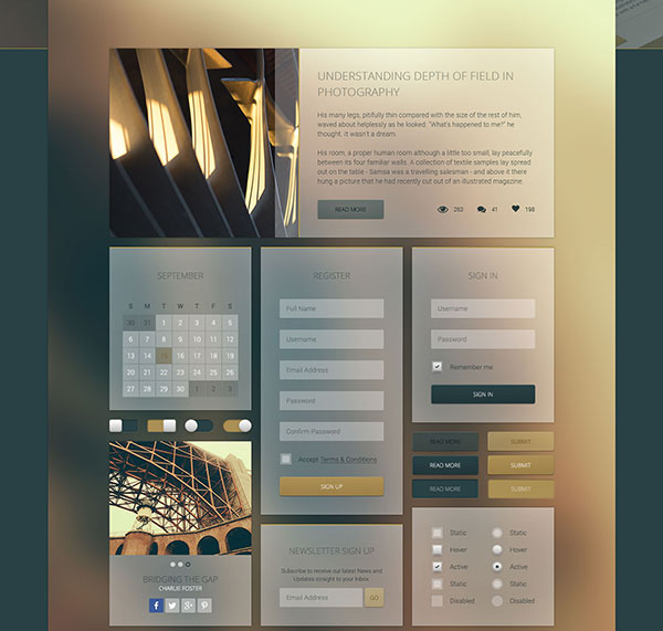 FREEBIE : Transparent UI Elements