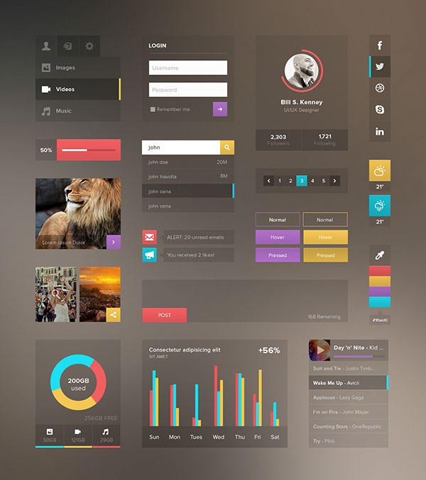 30 Clearly Cool Transparent Ui Designs Bashooka