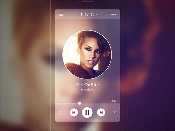 iOS7 Music Player