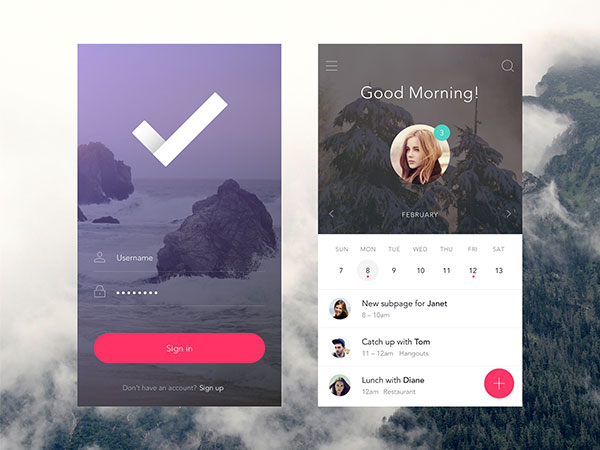 30 Clearly Cool Transparent Ui Designs Web Graphic Design Bashooka