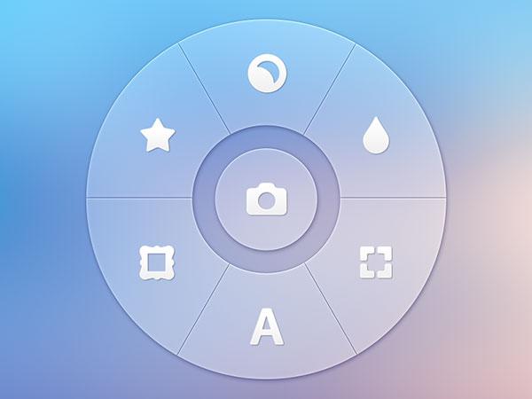 Photo App - Radial Controller | UX, UI, iOS