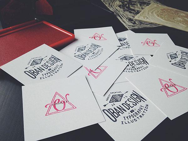 Oban Design Business Cards