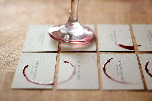super cool stamped business card