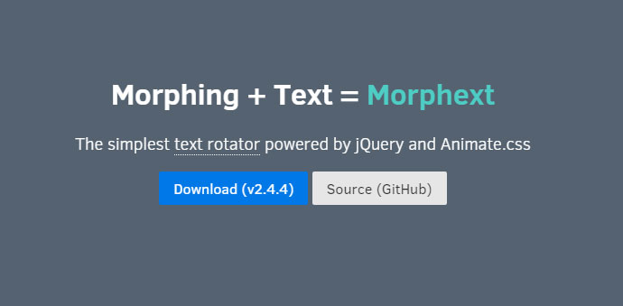 The simplest text rotator powered by jQuery and Animate.css