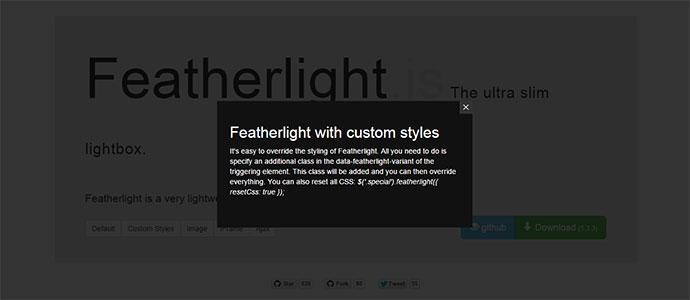 lightweight jQuery lightbox plugin