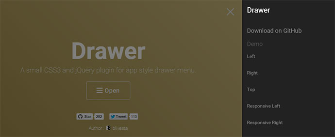 drawer jQuery