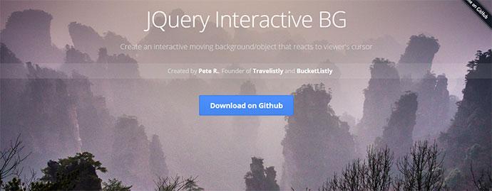 JQuery Interactive BG