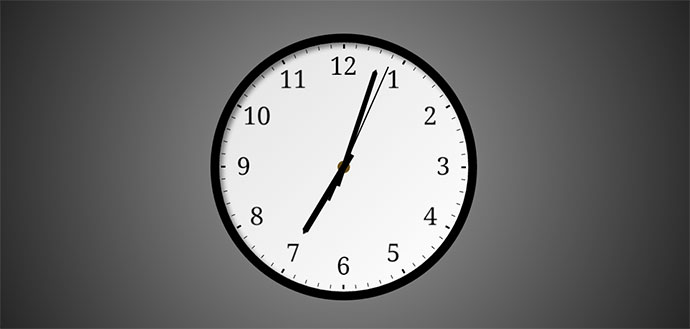 Analog Clock CSS3 (SASS)