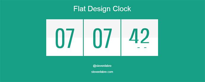 flat design clock