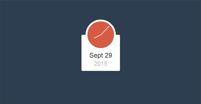 Flat Clock and Date
