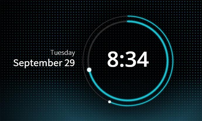 SVG Clock UI