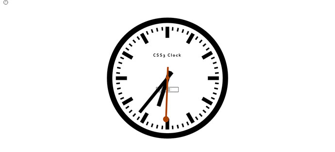 26 Amazing Css Clocks Web Amp Graphic Design Bashooka