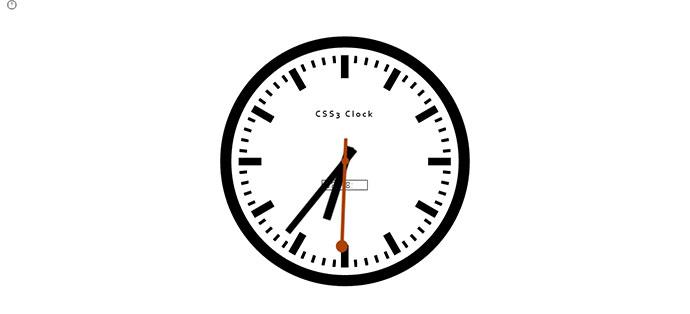 CSS3 Clock