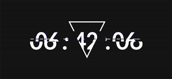 Glitch Clock