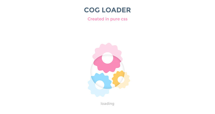 A quick loading animation using CSS.