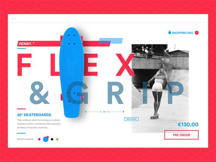 Penny Skateboard E-commerce concept