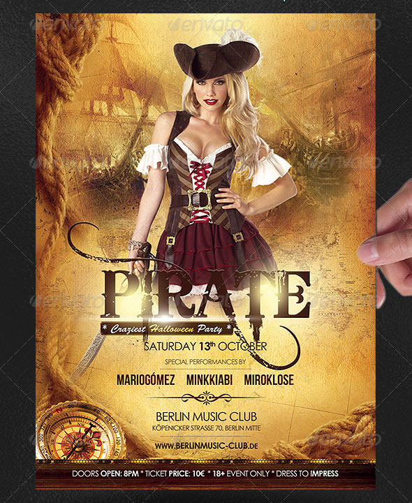 Pirate Halloween Poster/Flyer