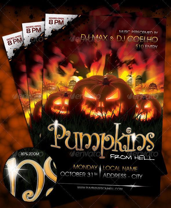 PSD Halloween Flyer Template