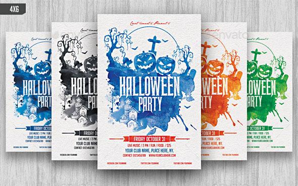 Halloween Watercolor Flyer