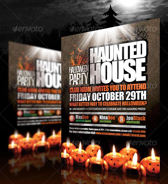 25 hellacious psd halloween flyer templates 2015 web graphic design bashooka for Halloween psd