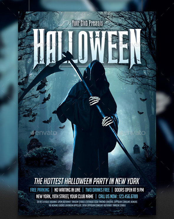 25 Hellacious Psd Halloween Flyer Templates 2015 | Web & Graphic