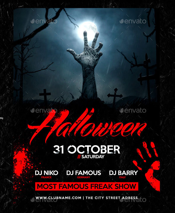 25 hellacious psd halloween flyer templates 2015 web for Free halloween flyer templates